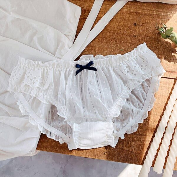 3 Color Ruffle Laced Cotton Soft Girl Panties 2- Orezoria Aesthetic Outfits Shop - eGirl Outfits - Soft Girl Outfits
