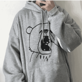 Yawning Bear Hoodie Cute Aesthetic - Orezoria Aesthetic Outfits Shop - Aesthetic Clothing - eGirl Outfits - Soft Girl Outfits.ps