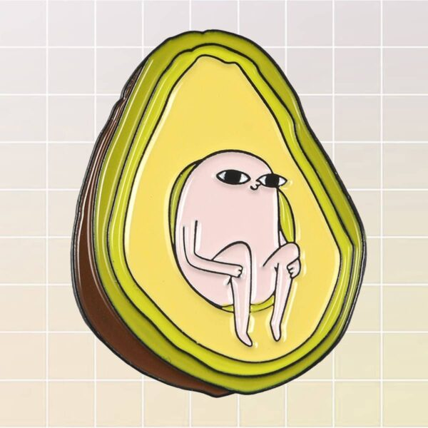 Avocado Seed Baby Ketnipz Enamel Pin Badge 1- Orezoria Aesthetic Outfits Shop - eGirl Outfits - Soft Girl Outfit