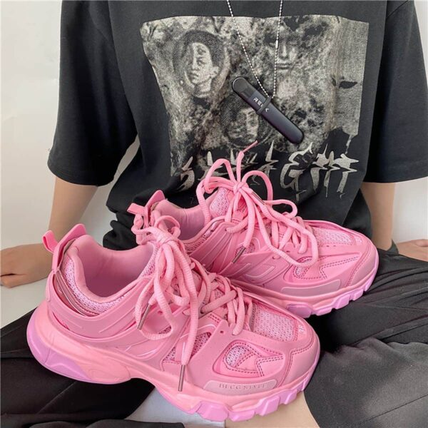 Bubblegum Pink Korean Aesthetic Sneakers 1- Orezoria Aesthetic Outfits Shop - eGirl Outfits - Soft Girl Outfits