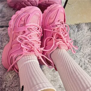 Bubblegum Pink Korean Aesthetic Sneakers 2- Orezoria Aesthetic Outfits Shop - eGirl Outfits - Soft Girl Outfits