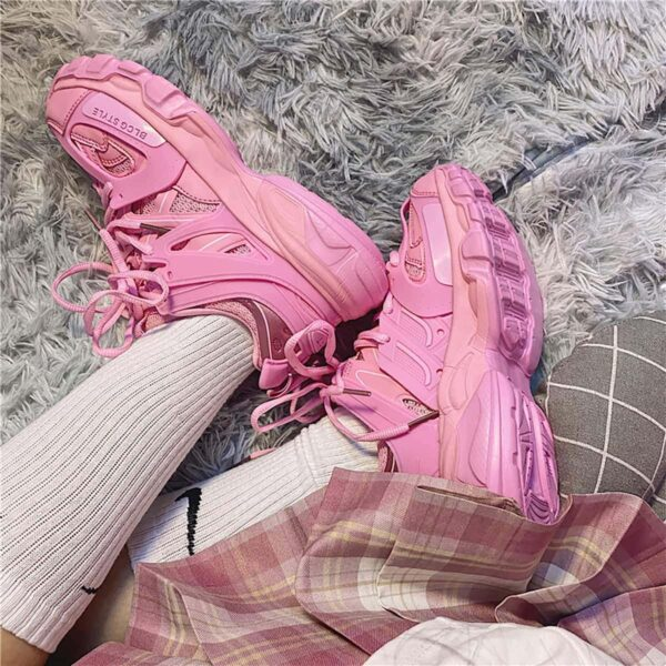 Bubblegum Pink Korean Aesthetic Sneakers 3- Orezoria Aesthetic Outfits Shop - eGirl Outfits - Soft Girl Outfits