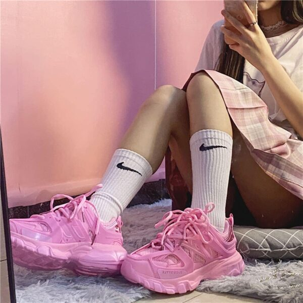 Bubblegum Pink Korean Aesthetic Sneakers 4- Orezoria Aesthetic Outfits Shop - eGirl Outfits - Soft Girl Outfits
