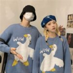Cute Wow Goose Duck Aesthetic Sweater