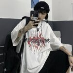 Devil Runes Loose Korean T-Shirt 1- Orezoria Aesthetic Outfits Shop - Aesthetic Clothing - eGirl Outfits - Soft Girl Outfits