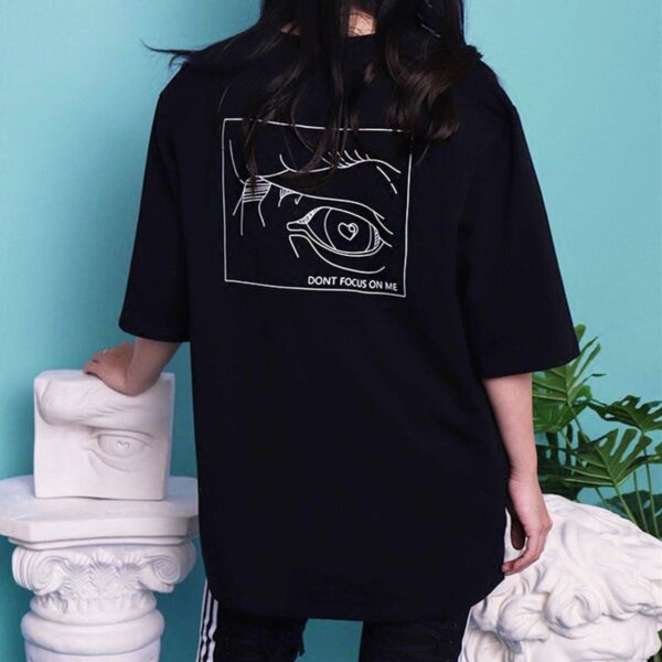 Don't Focus On Me EGirl T-Shirt David Eye 1- Orezoria Aesthetic Outfits Shop - eGirl Outfits - Soft Girl Outfits