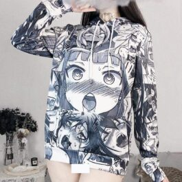 EGirl Ahegao Hoodie Anime Hentai Aesthetic - Orezoria Aesthetic Outfits Shop - Aesthetic Clothing - eGirl Outfits - Soft Girl Outfits
