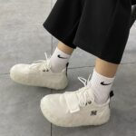 Geometrical Base Velcro Canvas Sneakers 1- Orezoria Aesthetic Outfits Shop - eGirl Outfits - Soft Girl Outfits