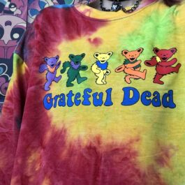 Grateful Dead Dancing Bears Tie Dye Long Sleeve 1 - Orezoria Aesthetic Outfits Shop - eGirl Outfits - Soft Girl Outfit