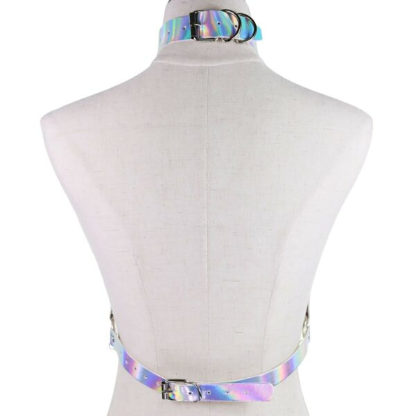 Holographic Harness Top Chains EGirl Bondage 3- Orezoria Aesthetic Outfits Shop - eGirl Outfits - Soft Girl Outfits