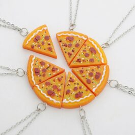 Indie Crafted Pizza Slice Pendant Necklace 1- Orezoria Aesthetic Outfits Shop - eGirl Outfits - Soft Girl Outfits