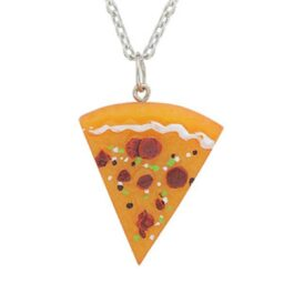 Indie Crafted Pizza Slice Pendant Necklace 2- Orezoria Aesthetic Outfits Shop - eGirl Outfits - Soft Girl Outfits