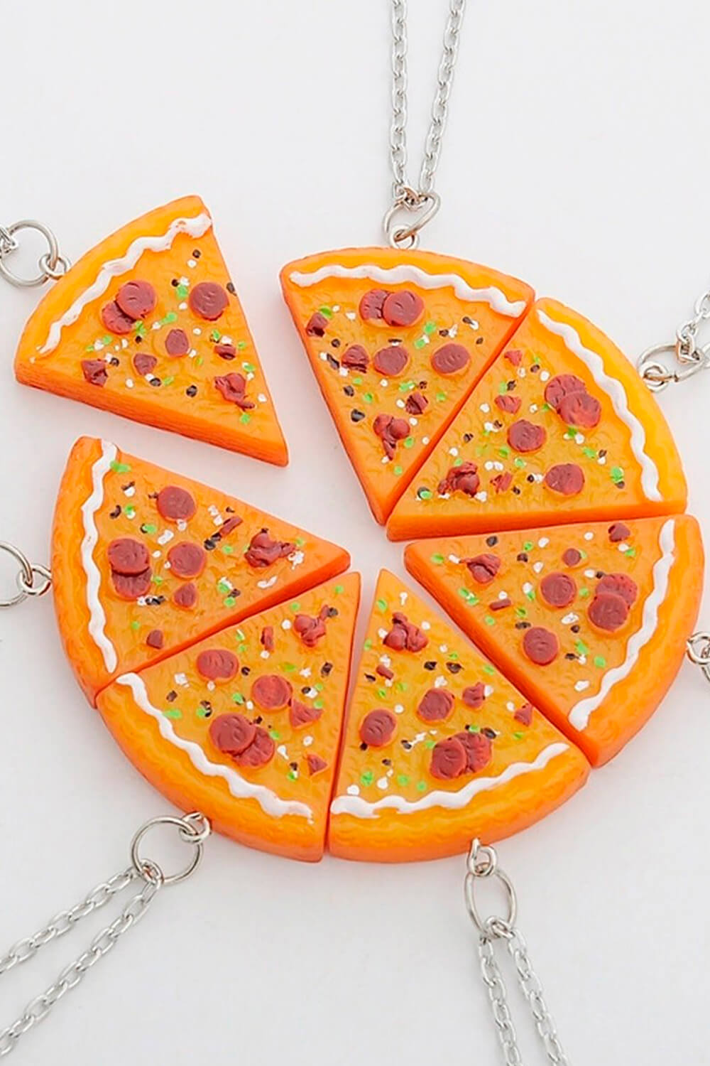 Indie Crafted Pizza Slice Pendant Necklace