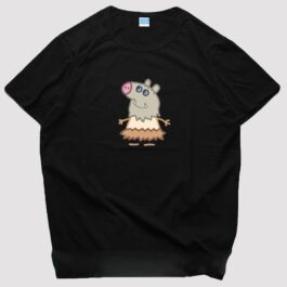 Kimetsu No Yaiba Inosuke Peppa Pig Cute T-Shirt 1 - Orezoria Aesthetic Outfits Shop - eGirl Outfits - Soft Girl Outfits