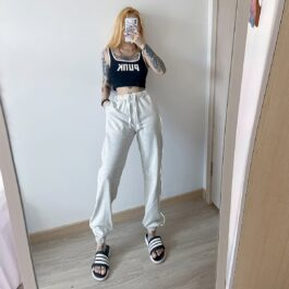 Light Reflective High Waist Workout Pants - Orezoria Aesthetic Outfits Shop - Aesthetic Clothing - eGirl Outfits - Soft Girl (2)