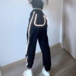 Light Reflective High Waist Workout Pants - Orezoria Aesthetic Outfits Shop - Aesthetic Clothing - eGirl Outfits - Soft Girl (3)