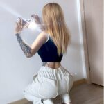 Light Reflective High Waist Workout Pants - Orezoria Aesthetic Outfits Shop - Aesthetic Clothing - eGirl Outfits - Soft Girl (4)