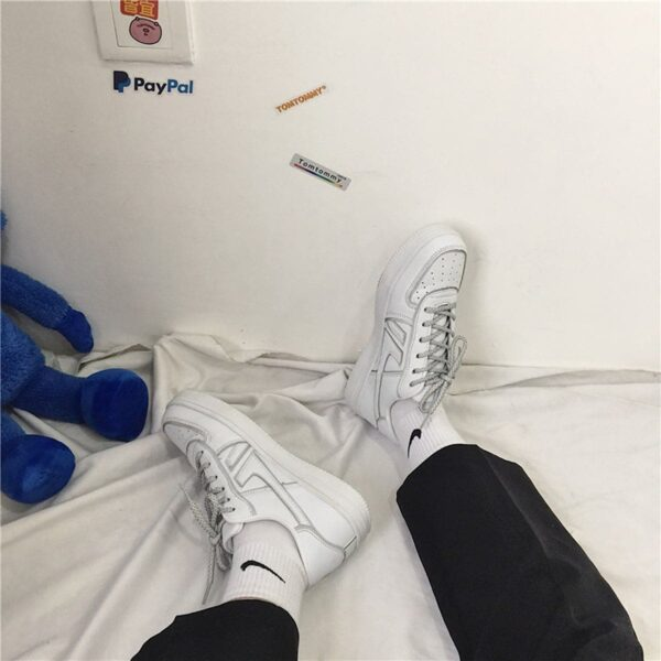 Light Reflective Lined Sneakers Retro Aesthetic 4- Orezoria Aesthetic Outfits Shop - eGirl Outfits - Soft Girl Outfits