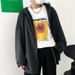 Loose Blank Korean Style Hoodie 1- Orezoria Aesthetic Outfits Shop - Aesthetic Clothing - eGirl Outfits - Soft Girl Outfits