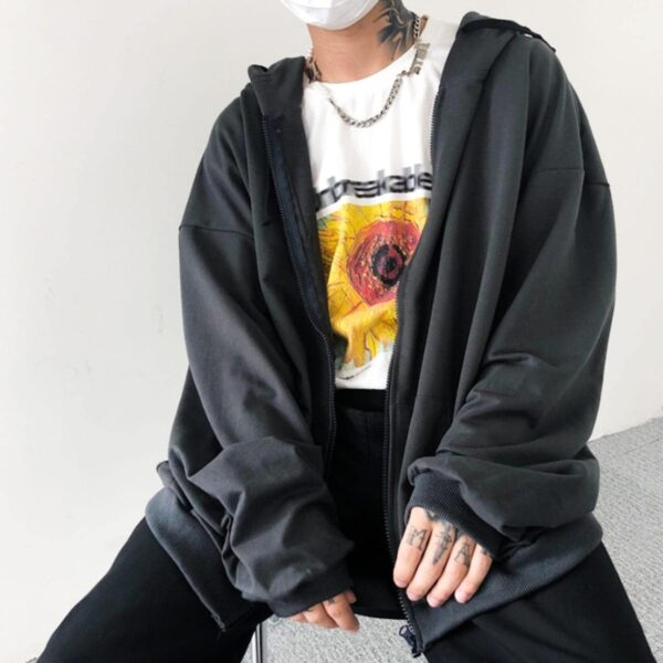 Loose Blank Korean Style Hoodie 2- Orezoria Aesthetic Outfits Shop - Aesthetic Clothing - eGirl Outfits - Soft Girl Outfits