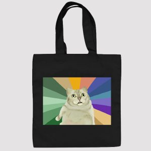 MUR Cat Autistic Rainbow Meme Shoulder Canvas Bag 1 - Orezoria Aesthetic Outfits Shop - eGirl Outfits - Soft Girl Outfits