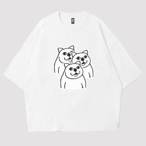 MUR Cat Cloning Skills Increased Meme T-Shirt 1 - Orezoria Aesthetic Outfits Shop - eGirl Outfits - Soft Girl Outfits