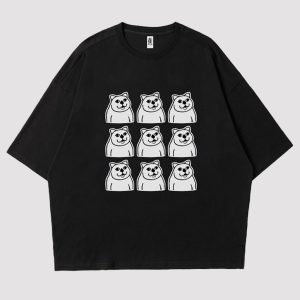 MUR Cat Grid Collage Meme Aesthetic T-Shirt 1 - Orezoria Aesthetic Outfits Shop - eGirl Outfits - Soft Girl Outfits