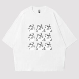 MUR Cat Grid Collage Meme Aesthetic T-Shirt 2 - Orezoria Aesthetic Outfits Shop - eGirl Outfits - Soft Girl Outfits