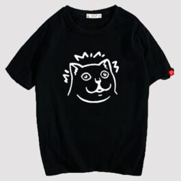 MUR Cat Meme Logo Knowledge Increased Face T-Shirt 2 - Orezoria Aesthetic Outfits Shop - eGirl Outfits - Soft Girl Outfits