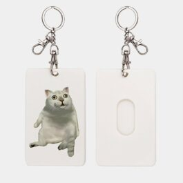 MUR Cat Meme Soft Card Holder Keychain 3 - Orezoria Aesthetic Outfits Shop - eGirl Outfits - Soft Girl Outfits