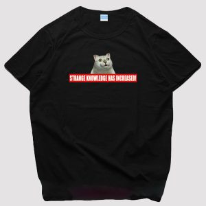 MUR Cat Meme Strange Knowledge Increased Label T-Shirt 1 - Orezoria Aesthetic Outfits Shop - eGirl Outfits - Soft Girl Outfits