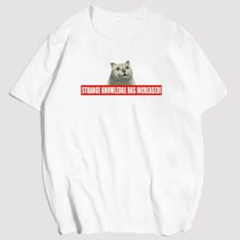 MUR Cat Meme Strange Knowledge Increased Label T-Shirt 2 - Orezoria Aesthetic Outfits Shop - eGirl Outfits - Soft Girl Outfits