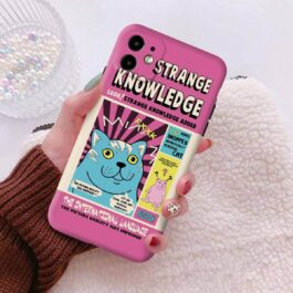 MUR Cat Strange Knowledge Retro Poster iPhone Case 2 - Orezoria Aesthetic Outfits Shop - eGirl Outfits - Soft Girl Outfits