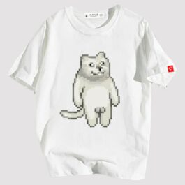 MUR Cat Pixel Balls T-Shirt Meme Aesthetic 1 - Orezoria Aesthetic Outfits Shop - eGirl Outfits - Soft Girl Outfits