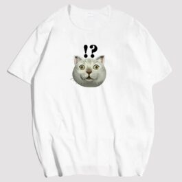 MUR Cat Wow Why T-Shirt Meme Aesthetic 1 - Orezoria Aesthetic Outfits Shop - eGirl Outfits - Soft Girl Outfits
