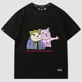 MUR Cat Yoshikage and MUR Cat Queen Meme T-Shirt 1 - Orezoria Aesthetic Outfits Shop - eGirl Outfits - Soft Girl Outfits