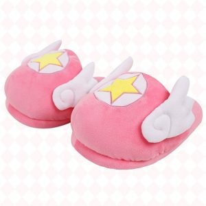 Magic Star Soft Pink BabyGirl Slippers With Wings 1 - Orezoria Aesthetic Outfits Shop - eGirl Outfits - Soft Girl Outfits