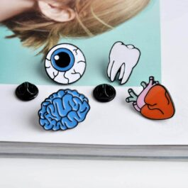 Molar Tooth Cartoon Enamel Pin Badge 2- Orezoria Aesthetic Outfits Shop - eGirl Outfits - Soft Girl Outfits