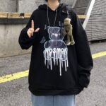 No Smoke Bear Oversized Hoodie 4- Orezoria Aesthetic Outfits Shop - Aesthetic Clothing - eGirl Outfits - Soft Girl Outfits