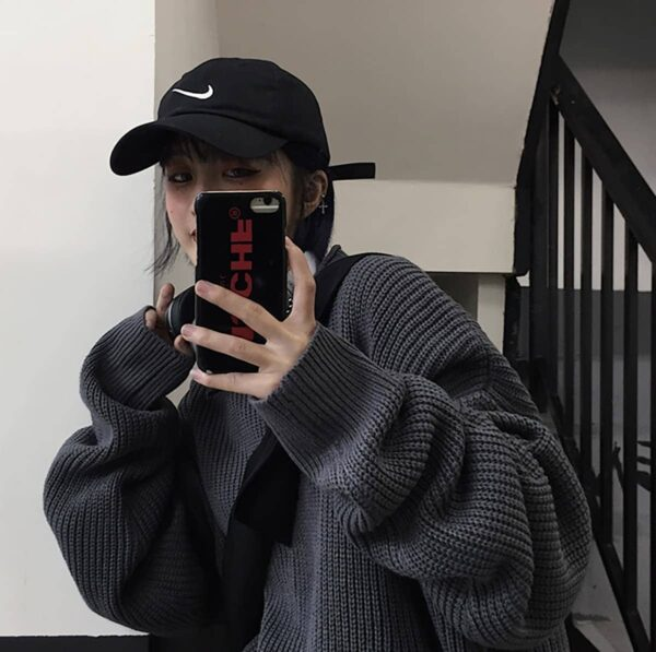 Oversized Korean Style Autumn Knitted Sweater 4- Orezoria Aesthetic Outfits Shop - eGirl Outfits - Soft Girl Outfits