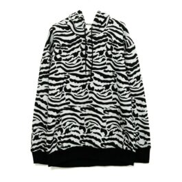 Oversized Zebra Pattern Hoodie 1- Orezoria Aesthetic Outfits Shop - Aesthetic Clothing - eGirl Outfits - Soft Girl Outfits
