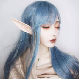 Pale Maormer Elf Blue EGirl Wig 2- Orezoria Aesthetic Outfits Shop - Aesthetic Clothing - eGirl Outfits - Soft Girl Outfits