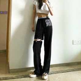 Pierced Legging Grunge Aesthetic Pants 1- Orezoria Aesthetic Outfits Shop - Aesthetic Clothing - eGirl Outfits - Soft Girl Outfits