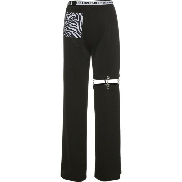 Pierced Legging Grunge Aesthetic Pants 4- Orezoria Aesthetic Outfits Shop - Aesthetic Clothing - eGirl Outfits - Soft Girl Outfits