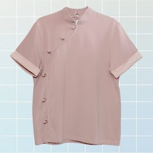 Pink Cheongsam Soft Girl T-Shirt Diagonal Buttons 1- Orezoria Aesthetic Outfits Shop - eGirl Outfits - Soft Girl Outfits