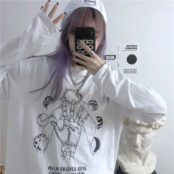 Planet Parade Witch Ritual Aesthetic Long Sleeve 2- Orezoria Aesthetic Outfits Shop - eGirl Outfits - Soft Girl Outfits
