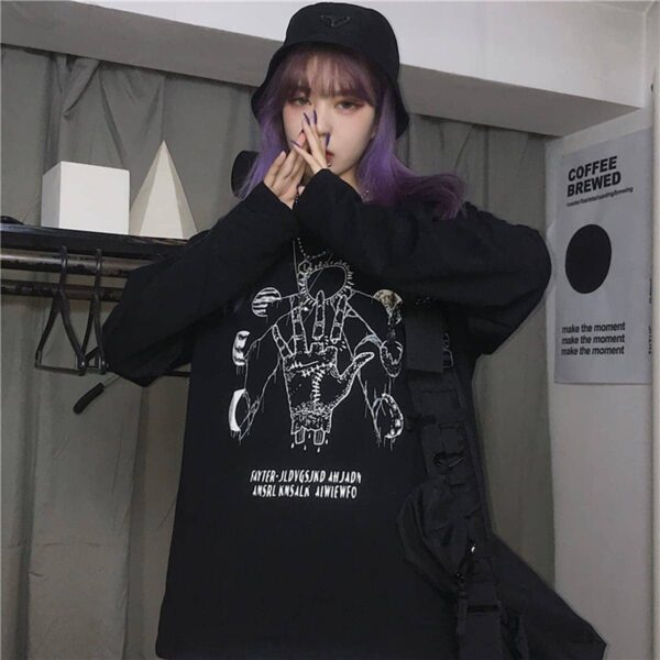 Planet Parade Witch Ritual Aesthetic Long Sleeve 3- Orezoria Aesthetic Outfits Shop - eGirl Outfits - Soft Girl Outfits