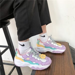 Purple Tide Retro 90s Aesthetic Sneakers 1- Orezoria Aesthetic Outfits Shop - eGirl Outfits - Soft Girl Outfits