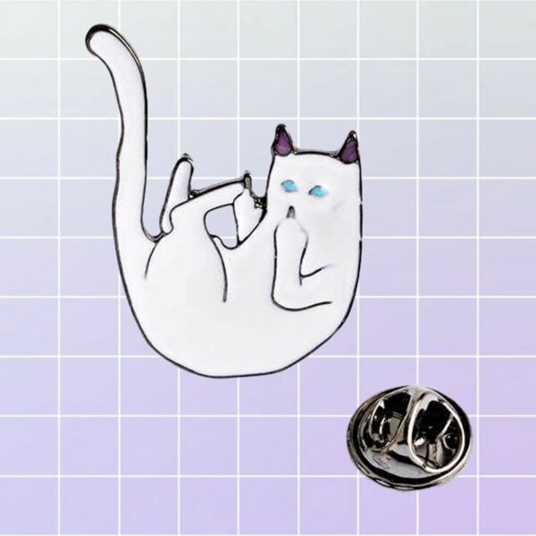 Ripndip Lord Nermal Cat Falling Enamel Pin Brooch 1- Orezoria Aesthetic Outfits Shop - eGirl Outfits - Soft Girl Outfits