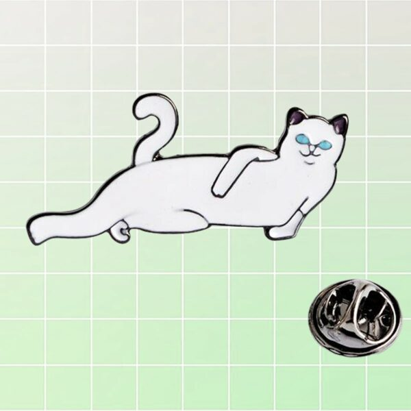 Ripndip Lord Nermal Cat Hello Stranger Enamel Pin 3- Orezoria Aesthetic Outfits Shop - eGirl Outfits - Soft Girl Outfits